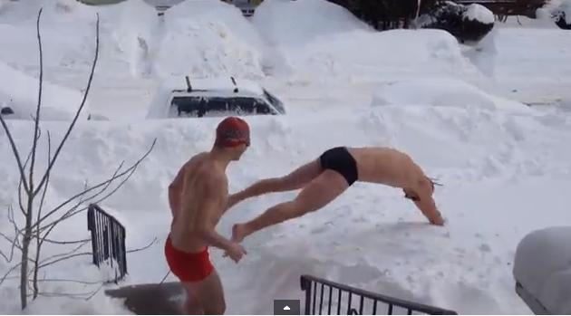 Snow Swimming
