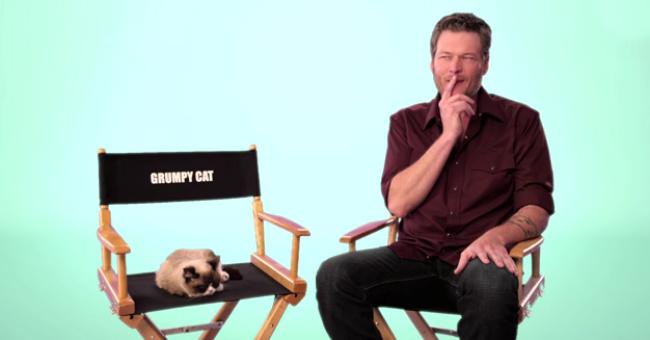 Blake and Grumpy Cat