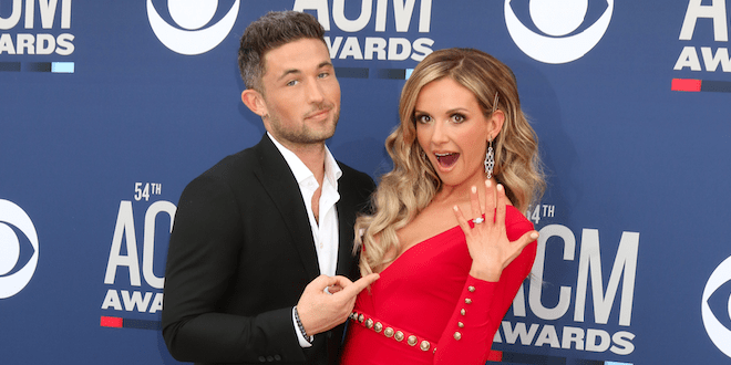 Michael Ray and Carly Pearce on ACM Red Carpet