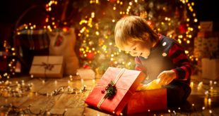Christmas Child Open Present Gift