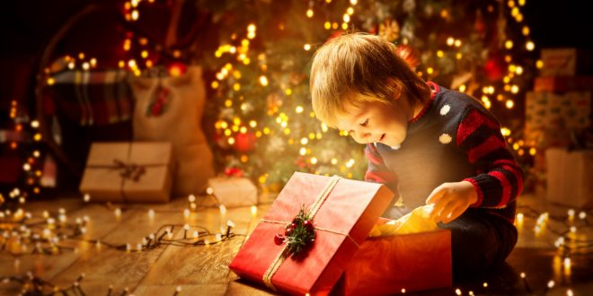 Christmas Child Open Present Gift