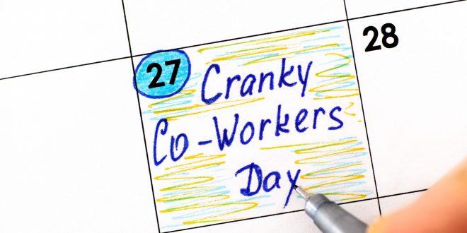 Cranky Co-Workers Day in calendar. October 27