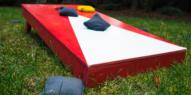 Corn Hole board with bags