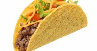 Taco, on white background