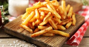 french fries on cutting board
