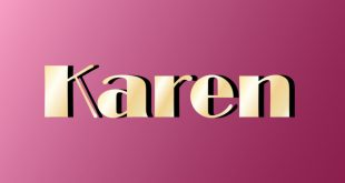 Name Karen on purple background