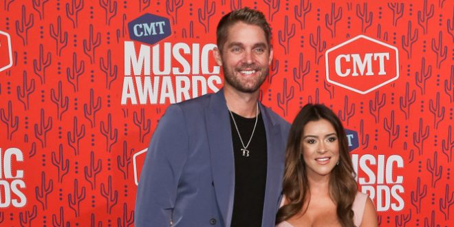 Brett Young with wife Taylor